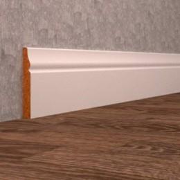 Белый плинтус мдф 8 см
